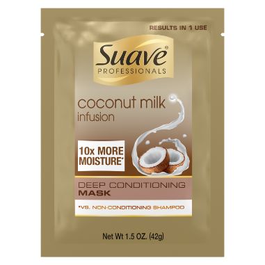 [Coconut Milk Deep Conditioning Hair Mask 1.5oz, Suave Coconut Milk Infusion Moisture Mask, Coconut Hair Mask]