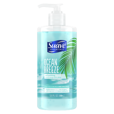[Ocean Breeze Liquid Hand Wash Front of Pack, Ocean Breeze Liquid Hand Wash Back of Pack]