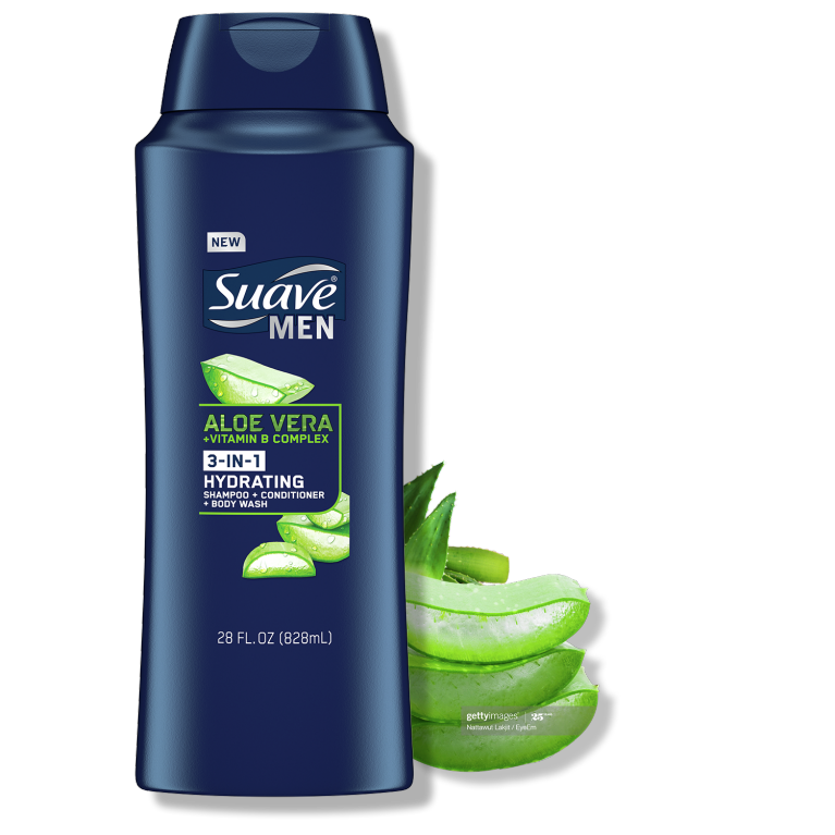 Suave Harvest Aloe Vera 3in1 Hydrating Shampoo-conditioner-28FL