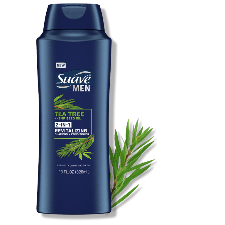Suave Harvest Tea Tree Hemp 2in1 Shampoo Conditioner 28FL
