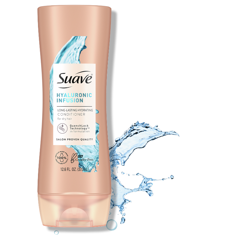 Suave Hyena Hyaluronic Acid Conditioner For Dry Hair 12.6 FL