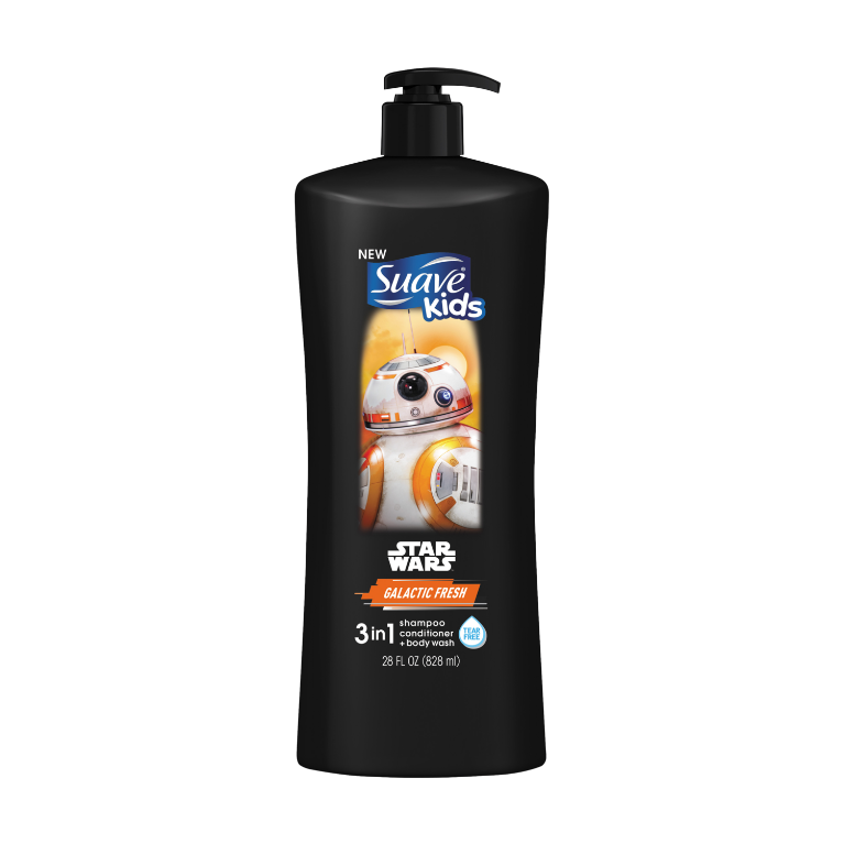[Disney Star Wars BB-8 Galactic Fresh 3-in-1 Shampoo, Conditioner, Body Wash 28oz]