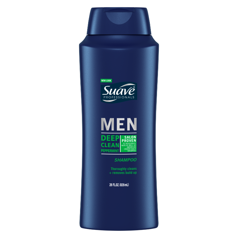 Suave Men Deep Clean Peppermint Shampoo 28oz