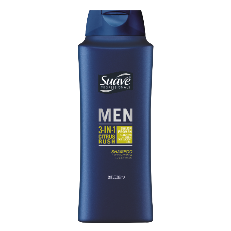 Suave Men Citrus Rush 3 in 1 28oz