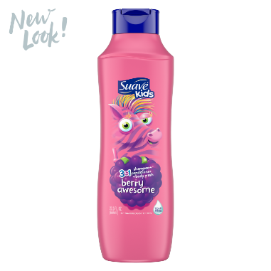 [Suave Kids Razzle Dazzle Raspberry 3-in-1 Shampoo, Conditioner, Body Wash 22.5oz]