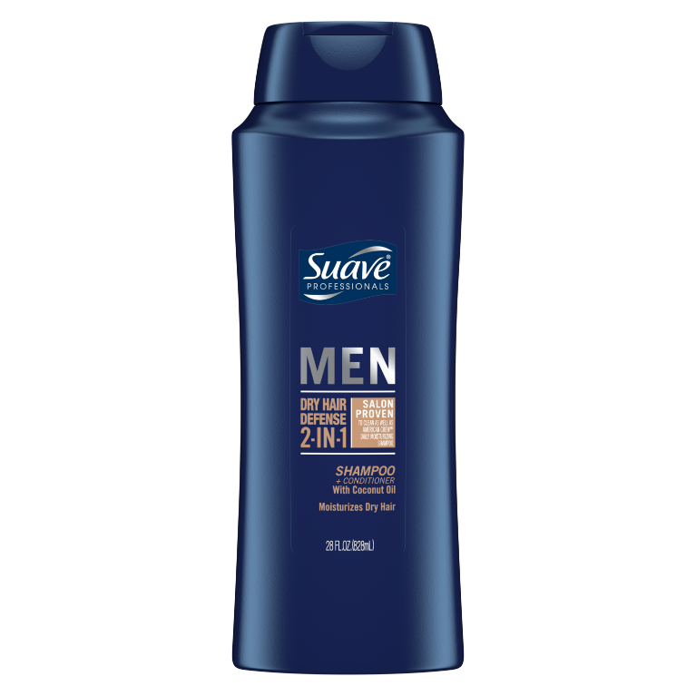 Suave Men 2in1 Shampoo + Conditioner Dry Hair Defense 28 oz