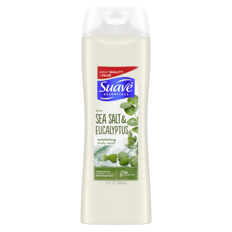 SUAVE skin care Sea SLT + EUCLYPTS 15 OZ