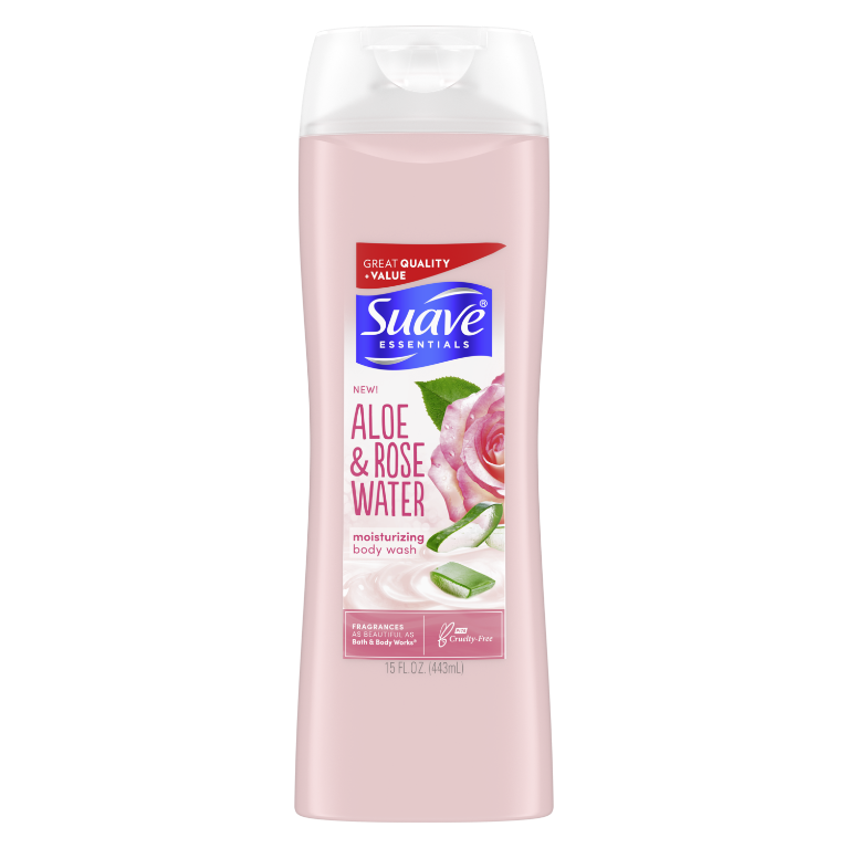 Suave Body Wash Aloe + Rose Water 15 OZ