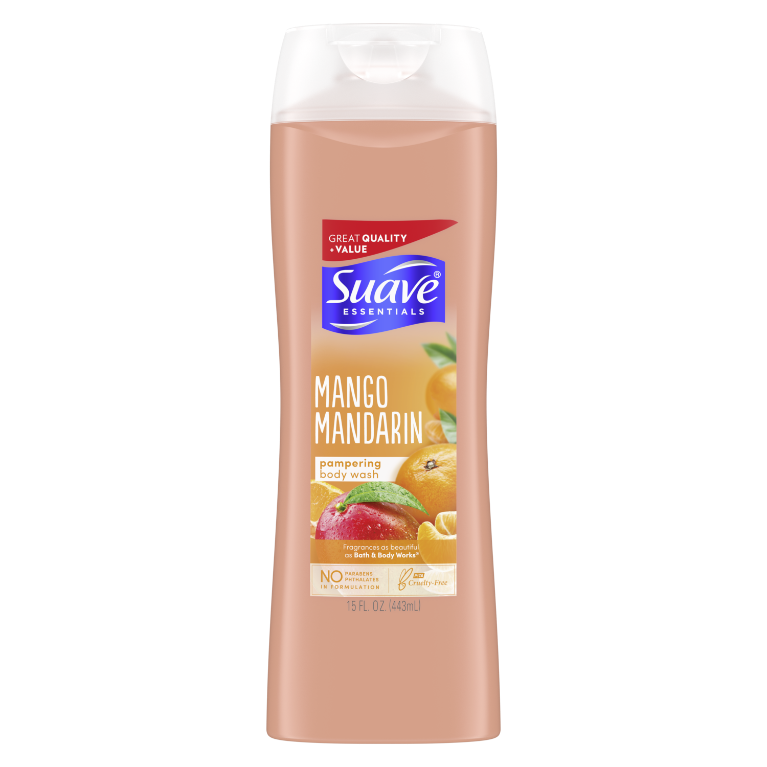Suave Essentials Body Wash Mango Mandarin 15 oz
