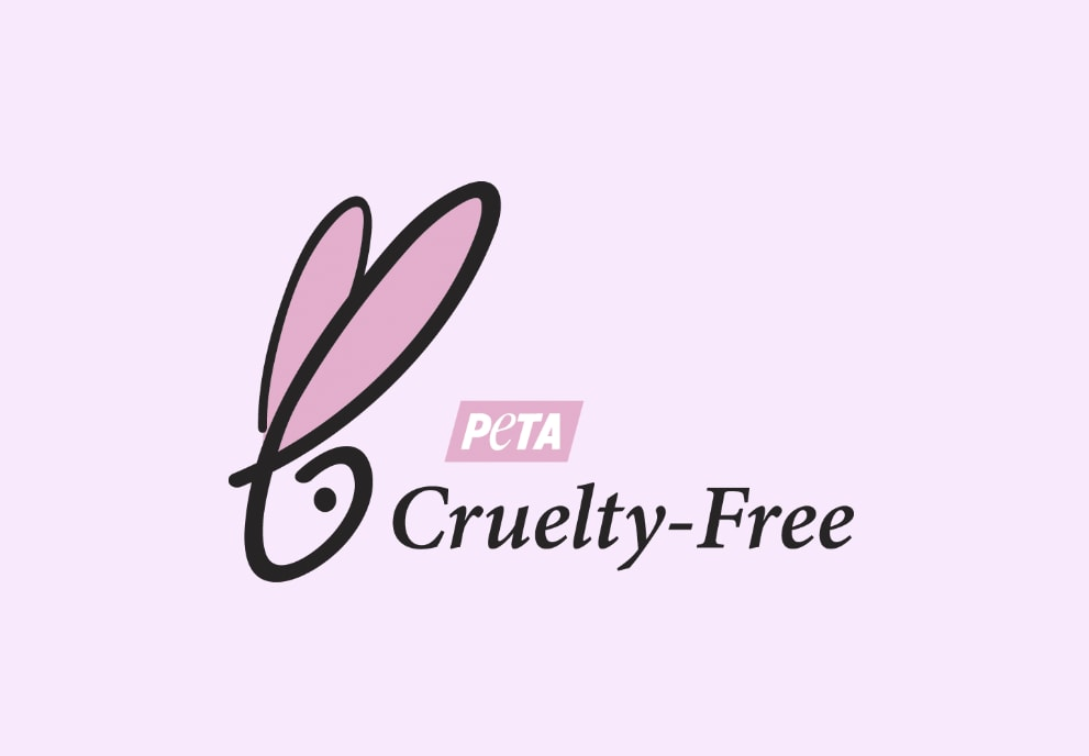 peta cruelty free logo pink background