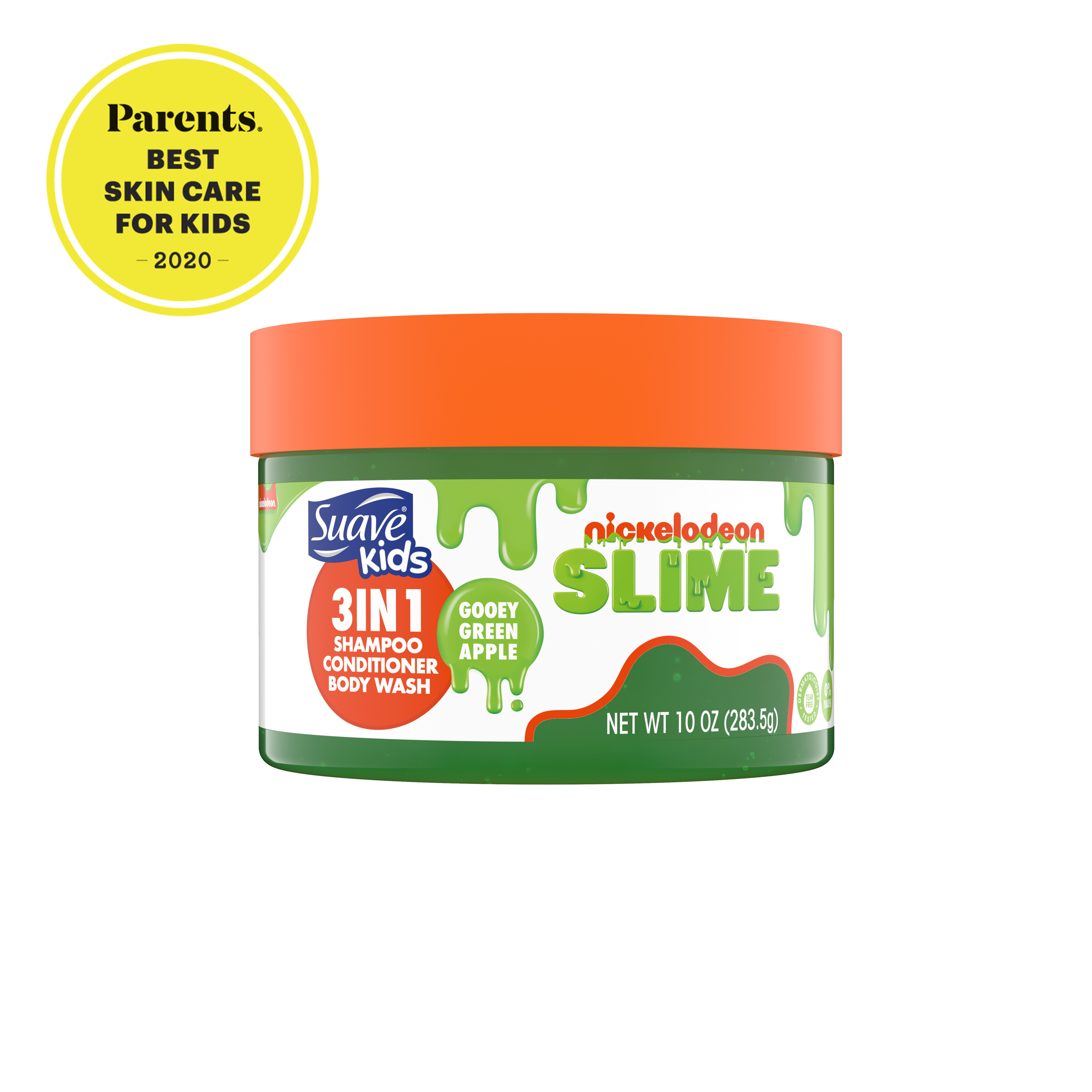 Suave nickelodeon slime green apple 3-in-1 with seal
