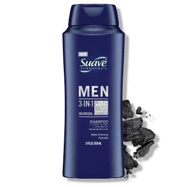 [3-in-1 Shampoo + Conditioner + Charcoal Body Wash FOP 28oz, 3-in-1 Shampoo + Conditioner + Charcoal Body Wash BOP 28oz]