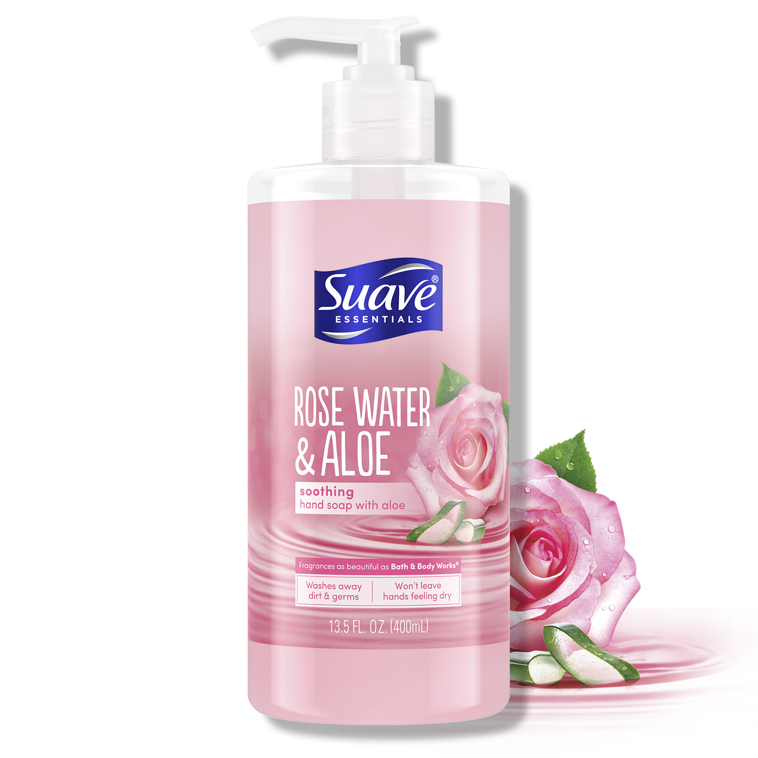 [Rose Water & Aloe Liquid Hand Wash Front of Pack, Rose Water & Aloe Liquid Hand Wash Back of Pack]