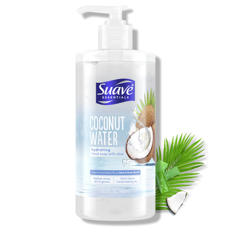 Suave Hand Essentials Coconut Water Hydrating Hand Soap with Aloe 13.5FL