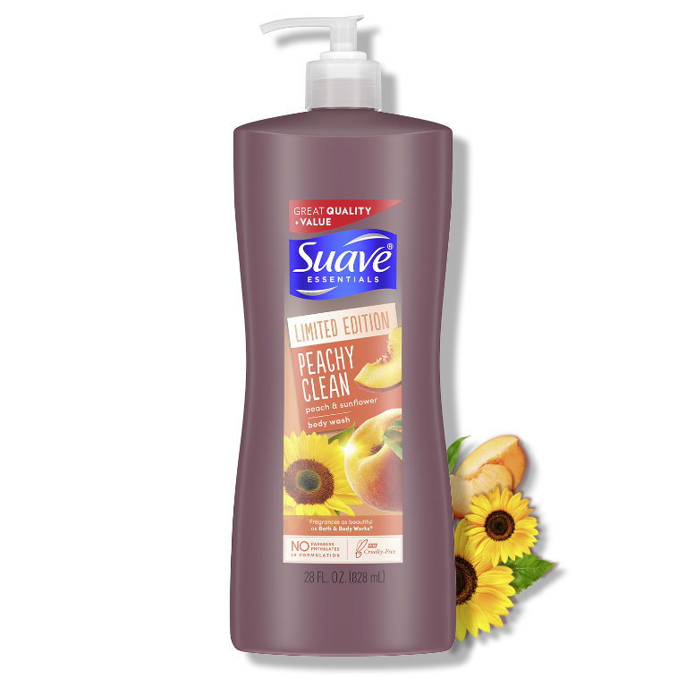 Suave Hot Limited Edition Peachy Clean Body Wash 28FL